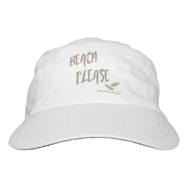 Beach Themed Beach Please Tropical Summer Vacation Cool Grey Headsweats Hat