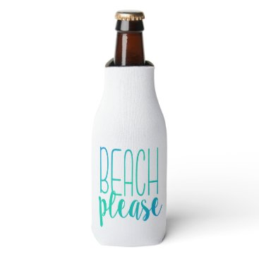 notablenovelties Beach Please | Turquoise Ombre Bottle Cooler