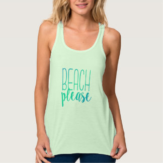Beach Please | Turquoise Ombre Tropical Tank