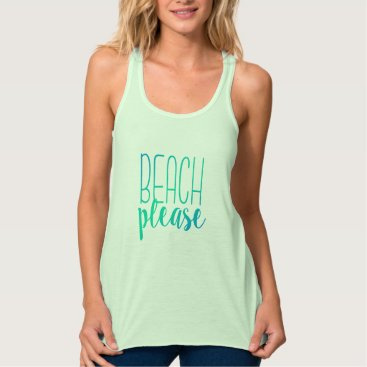 notablenovelties Beach Please | Turquoise Ombre Tropical Tank