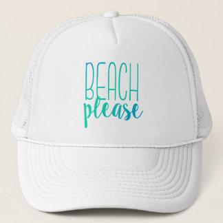 Beach Please | Turquoise Ombre Trucker Hat
