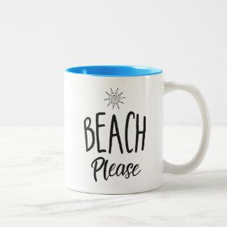 Beach Please Two-Tone Coffee Mug