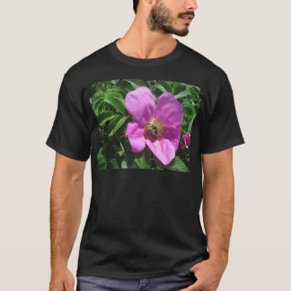 Beach Plum Rose with Bee T-Shirt