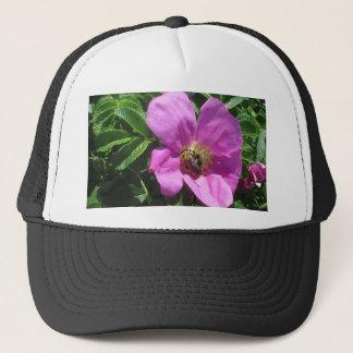 Beach Plum Rose with Bee Trucker Hat