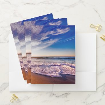 Beach Pocket Folder