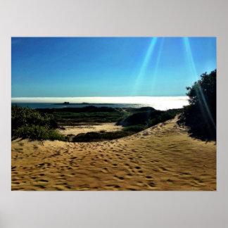 Beach Point Lobos, Sunlight Poster