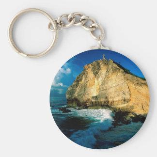 Beach Pointe Des Chateaux Guadeloupe Key Chains