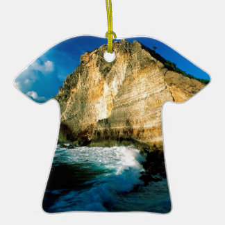 Beach Pointe Des Chateaux Guadeloupe Christmas Ornament