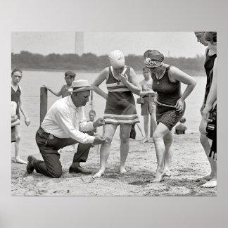 Beach Police, 1922. Vintage Photo Poster