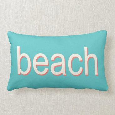 Beach Themed Beach Polka Dots in Orange and Cream Lumbar Pillow