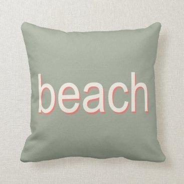 Beach Themed Beach Polka Dots in Orange and Cream Throw Pillow
