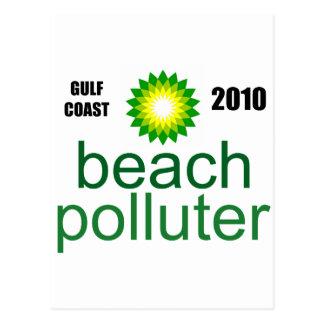 Beach Polluter - Gulf Coast 2010 Postcard