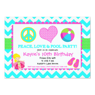 Beach Pool Invitation