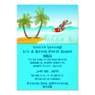 Beach/Pool Party Invitation