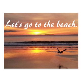 Beach post card invitation!
