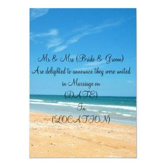 Beach Post Wedding Announcement