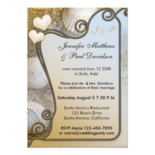 Post Wedding Party Invitations and get inspiration to create nice invitation ideas