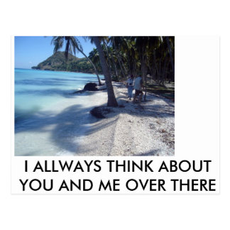 beach postcard