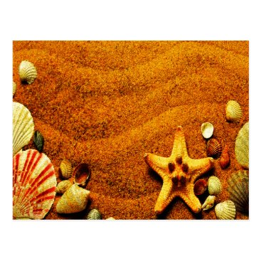 Beach Themed Beach Postcard
