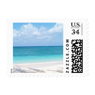 Beach Themed Beach Postcard postage stamp