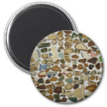 beach pottery 2 inch round magnet