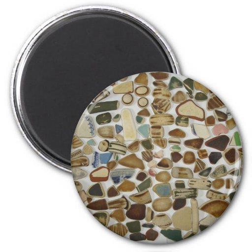 beach pottery refrigerator magnet