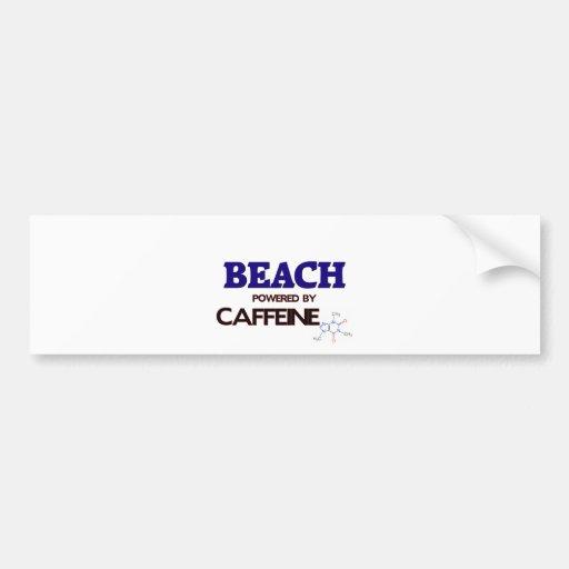 Beach powered by caffeine bumper stickers