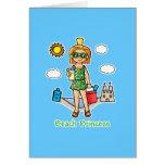 Beach Princess Cards