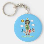 Beach Princess Keychain