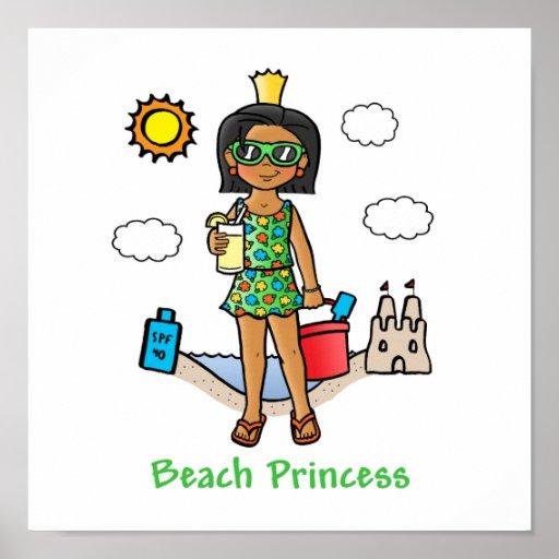 Beach Princess Print