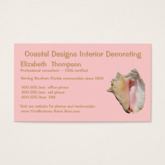 Beach Property Interior Decorating or Realtor Business Card