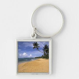 Beach Puerto Rico 2 Silver-Colored Square Keychain