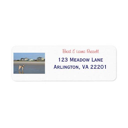 Beach Pug Address Labels