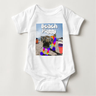 Beach Puggy Baby Bodysuit