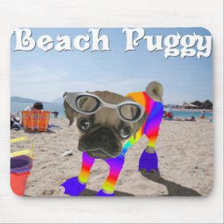Beach Puggy Mouse Pad