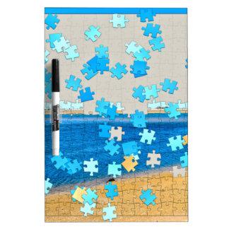 Beach Puzzle Dry Erase Board