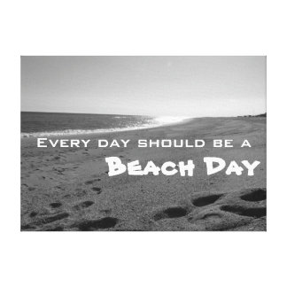 Beach Quote Wrapped Canvas