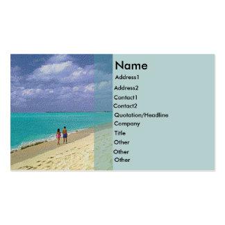 Beach Rack Card Business Card Templates