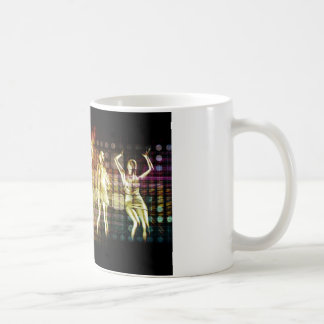Beach Rave Party with Disco Dancing Girls Coffee Mug
