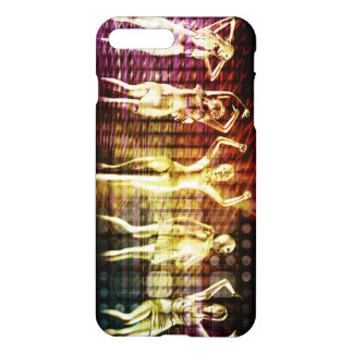 Beach Rave Party with Disco Dancing Girls iPhone 8 Plus/7 Plus Case