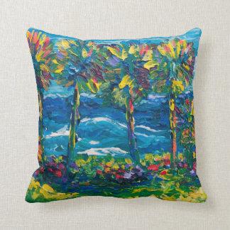 Beach Rd Jupiter Island Throw Pillows