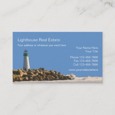 Beach real estate business cards zazzle reheart Choice Image
