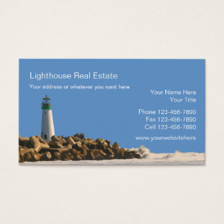 Beach Real Estate Business Cards