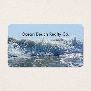 Beach Themed Beach Real Estate Realtor Business Card
