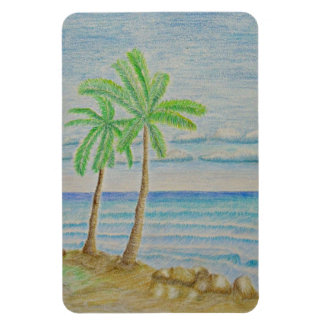 beach rectangular photo magnet