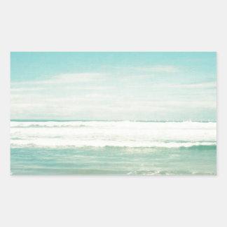 Beach Rectangular Sticker