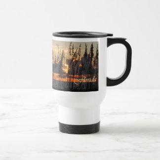 Beach Reeds Sunset Travel Mug