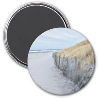 Beach refrigerator magnet