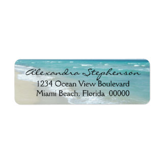 Beach Relaxation Ocean View Spa White Sand Label