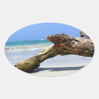 Beach Relic Oval Sticker